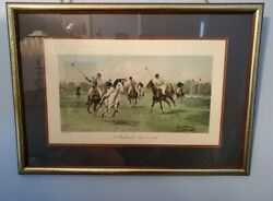 George Wrights A Backhander Stops A Rush Game Of Polo Framed Print Collectable