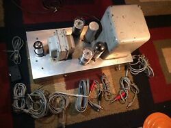 Vintage Tube Amplifier Radio Record Player Phonograph Antique Tubes Glass Amp