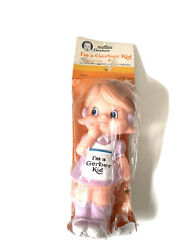 I'm A Gerber Kid 1985 Vinyl Squeeze Squeaker Toy Girl Vintage Advertising Ad