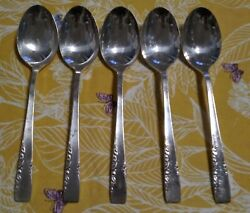 1881 Rogers Oneida Silverplate 1954 Proposal Place Oval Soup Spoons Set Of 5