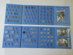 1913 - 1938 Buffalo Nickel Set 96 Coins Total And 44 Jefferson Nickels 1938-1961
