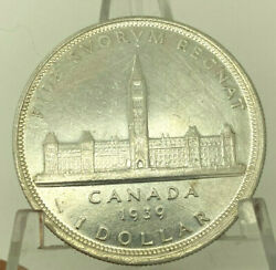 1939 Canada Silver Dollar Unc. Details Cleaned