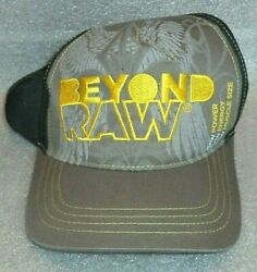 Brown Black Embroidered Ball Cap Hat Advertising Beyond Raw Supplements