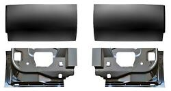 Inner And Outer Rear Door Bottom Skin Kit For 99-16 Ford F250 Super Cab Pickup