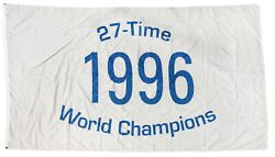 Ny Yankees Game Used 27-time World Champions 1996 Stadium Flown 65x120 Flag Sign