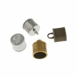 Wholesale Metal Craft End Crimp Connector For 10mm Leather Cord Jewelry Finging
