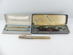 Waterman Pen 14k Nib And Pencil For Parts Sheaffer 14k Fountain Pen Whal Set