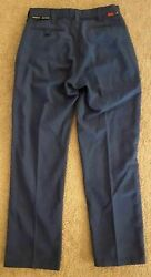 New Condition - Workrite Nomex Iiia Fire Resistant Mens Pants - Navy Blue