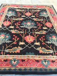 Vintage Modern Tibetan Rug Hand Knotted Wool Pile 10and039 X 8and039