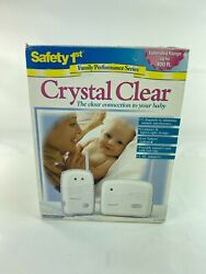 New Safety 1st Crystal Clear Baby Monitor Portable Receiver 2 Channels 400 Ft.