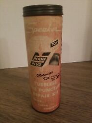 Vintage Speaker Brand Tubeless Tire Puncture Repair Kit W/ Some Items And Canister