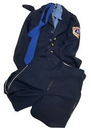 Wwii Era Chattanooga Police Civil Defense Uniform Jacket Blouse Trousers Patches