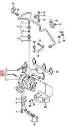 Genuine Audi A2 8z0 Exhaust Manifold With Turbocharger 045253019a