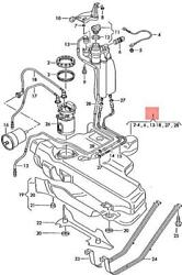 Genuine Fuel Tank With Attachments And Narrow Fuel Filler Neck 8n0201055t