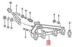Genuine Vw Audi Otto- Gas-ind.motore Exhaust Manifolds 049129591p