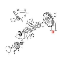 Genuine Flywheel Without Start-stop System Before Parts Order 03l105266dc