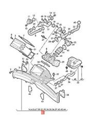 Genuine Audi A6 Avant S6 Quattro Air Guide For Charge Air Cooler 079145581t
