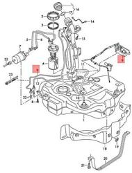 Genuine Vw Eos Golf Cabriolet Extraction Unit With Metering Pump 1q0201607j