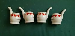 Porcelain Model Weisenbach Schnapspfeifle Glass Shot Pipe Sippers West Germany