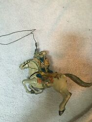 Vintage The Lone Ranger And Silver Tin Wind Up Toy, Lariat Works