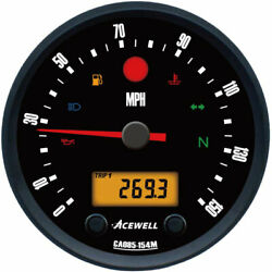 Acewell Ca85 Diameter Speedo And Rev Counter With Classic British Face