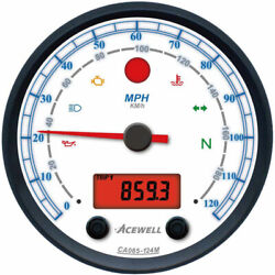 Acewell Ca85 Diameter Speedo And Rev Counter With White Face