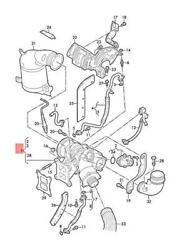 Genuine Audi Vw A3 Cabriolet Exhaust Manifold With Turbocharger 06k145874mx