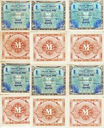 Germany-70-lot1 Mark Allied Military Currency1944 Au-ef Condpick192-a