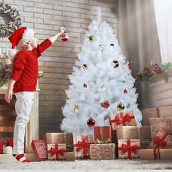 White Christmas Tree Holiday Festival Home Decoration Xmas Artificial Pine Stand