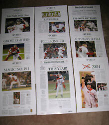 2004 Boston Red Sox World Series Champs Hartford Courant 9 Reprints Front Pages
