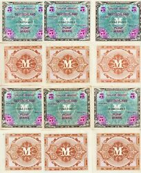 Germany-lot-16 5 Mark Allied Military Currency1944 Unc-au Condpick193-a
