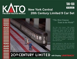 Kato N Scale 106-100 New York Central 20th Century Limited 9 Car Set New