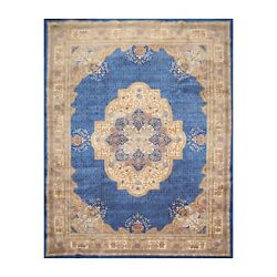 9'x12' Hand Knotted Wool French Aubusson Savonnerie Oriental Area Rug Royal Blue