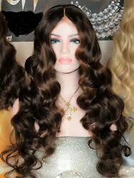 Custom Lace Front Brazilian Brown/auburn Body Wave Human Hair Wig 26 180