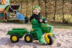Toddler Pedal Tractor Ride On With Trailer Green John Exercise Deere Toys Trike