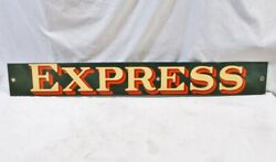 """Old Railroad Baggage - Wagon Porcelain Express Sign 39 3/8"""" X 5"""""""