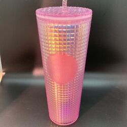 Starbucks 2020 Holiday - Studded Grid Cold Cup Tumbler - Venti - Hot Pink