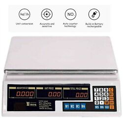 Lcd Digital Kitchen Scale Food Meat Computing Commercial Weight Tool Market 88lb