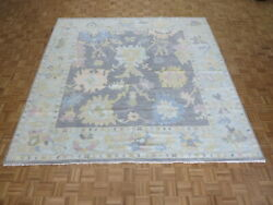 10 X 10 Square Hand Knotted Gray Modern Oushak Oriental Rug G10064
