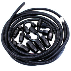 An6 6an Fitting Nylon Stainless Steel Braided Fuel Hose End Adapter Oil Line Kit