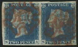 Sg6 2d Pale Blue Na-nb Good To Very Large Margins Bright Red Maltese Cross