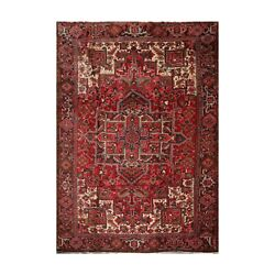 9and0398 X 12and0398 Hand Knotted 100 Wool Herizz Traditional Oriental Area Rug Red