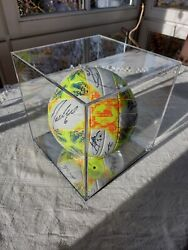 Real Madrid - Team Signed Ball In A Mirror Based Show Case - Photo Proof