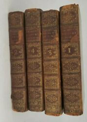 1760 Continuation Of The Complete History Of England Vol 1-4 Antique Book Lot H5
