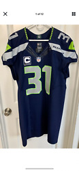 Authentic Kam Chancellor Seattle Seahawks Jersey 44 Nike Elite 48 52 Team Issued