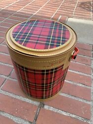 Vintage 50's The Skotch Kooler 4 Gallon Deluxe By Hamilton Scotch Corp Red Plaid
