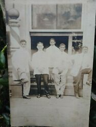 Extremely Rare African Americans Barbers Outside The Barbershop Original Photo