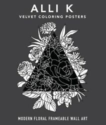Velvet Coloring Posters Modern Floral Frameable Wall Art [new ] Poster, Arts
