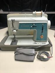 Vintage Singer Touch And Sew Sewing Machine Deluxe Zig Zag Model 628 Working