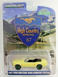 Green Machine 30214 1967 Ford Mustang Convertible Aspen Gold Greenlight Chase